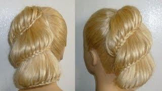 getlinkyoutube.com-Frisuren.Flechtfrisuren.Ausgehfrisur/Abiballfrisur.High Bun Braid Updo Prom Hairstyles.Peinados
