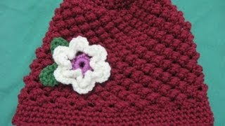 getlinkyoutube.com-Raspberry Stitch Beanie - Crochet Tutorial