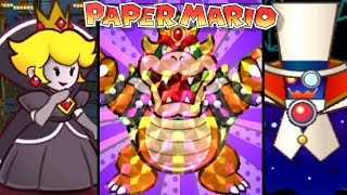 Paper Mario ALL FINAL BOSSES 2001-2012 (3DS, Wii, N64)