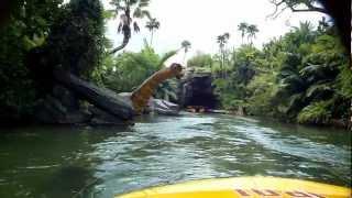 getlinkyoutube.com-Jurassic Park ride front row seat, Universal Studios Orlando