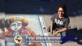 getlinkyoutube.com-Bel Air High School students participated at Chalk The Block