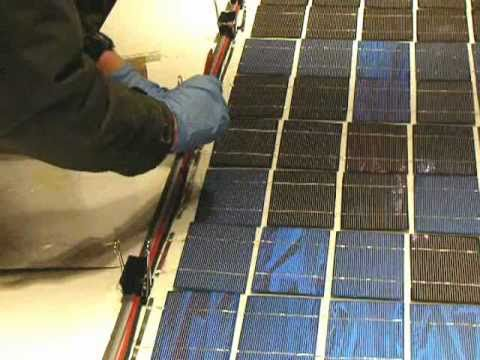 Building Solar Panels- final panel assembly