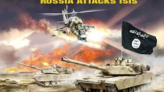 getlinkyoutube.com-RUSSIA ATTACKS ISIS IN SYRIA- launches airstrikes. Daesh in Panic