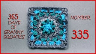 getlinkyoutube.com-365 Days of Granny Squares Number 335