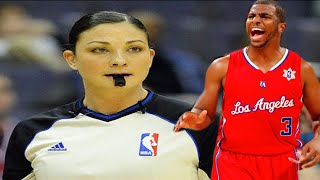 getlinkyoutube.com-female referee Lauren Holtkamp vs the Clippers Chris Paul