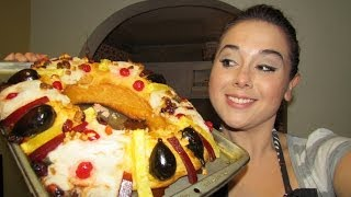 getlinkyoutube.com-Rosca de Reyes rellena de queso philadelphia y nuez