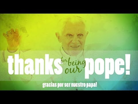 Youth pay video homage to 'young man of 85' Benedict XVI