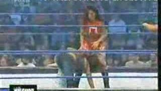 getlinkyoutube.com-Torrie Wilson And Mickie James Vs Victoria And Beth Phenoix.