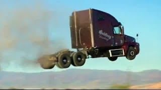 getlinkyoutube.com-Can trucks fly? Stunt - Jump Compilation of trucks