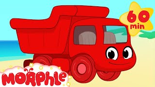 getlinkyoutube.com-Dumptruck vehicle adventures with Morphle ( +1 hour My Magic Pet Morphle kids videos compilation)