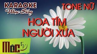 getlinkyoutube.com-KARAOKE Hoa Tím Người Xưa - Như Quỳnh - Full Beat 2015