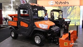 getlinkyoutube.com-2017 Kubota RTV X1100 C Diesel Utility ATV with Snow Blower and Salt Dispencer - Walkaround
