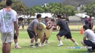 getlinkyoutube.com-(2 of 4) Trench Warfare: Derby OL vs. Fastletics OLB/DE 4/19/15
