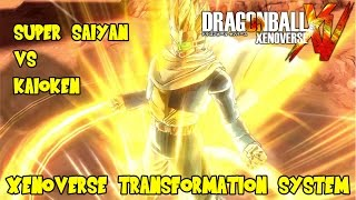 getlinkyoutube.com-Dragon Ball Xenoverse: How Transformations Work! Super Saiyan vs Kaioken