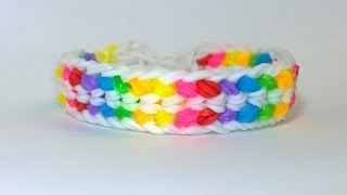getlinkyoutube.com-Rainbow Loom Double Capped Dragon Scale Bracelet With Fork! DIY