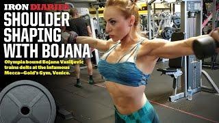 getlinkyoutube.com-Olympia bound Bojana Vasiljevic trains delts at the Mecca