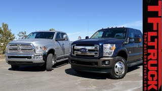 getlinkyoutube.com-2015 RAM 3500 vs Ford F-350 MPG Review: And the most fuel efficient Dually is...