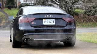 getlinkyoutube.com-2009 Audi S5 Remus Exhaust Start and Low Rev 4.2L V8 Sound