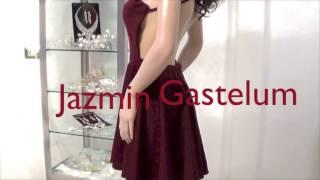 getlinkyoutube.com-Vestido Escote Halter Espalda Descubierta  -Jazmin Gastelum