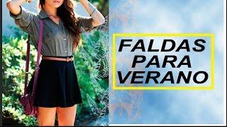 getlinkyoutube.com-Outfits Con Falda Circular o Skater