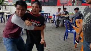 Ngeri!!! Atlit MMA Brando berkelahi di warkop sianida padang bulan