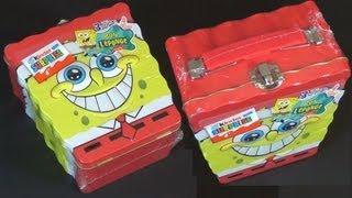 getlinkyoutube.com-Kinder Surprise - SpongeBob (Metal Lunchbox)