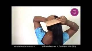 getlinkyoutube.com-Real Rapunzel Reshma Sensual Hair Play with Her Knee Length Silky Hair
