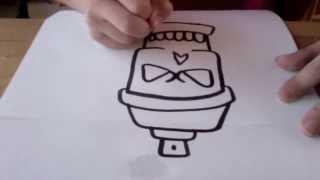 getlinkyoutube.com-How to draw an easy skull spray can