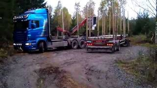 getlinkyoutube.com-Scania R620 Timmerbil