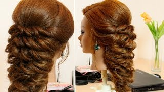 getlinkyoutube.com-Prom bridal hairstyle for long hair.
