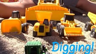 getlinkyoutube.com-Construction Trucks for Children - JackJackPlays with excavators, wheel loaders, and bulldozers