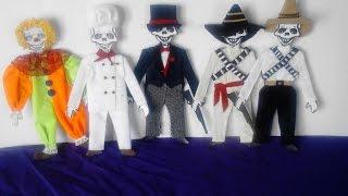 getlinkyoutube.com-como vestir calaveras  de papel catrin