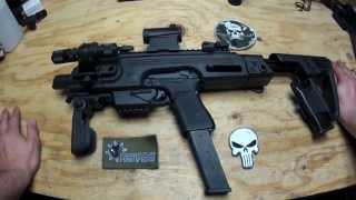 getlinkyoutube.com-CAA RONI Glock Pistol-Carbine Conversion (Airsoft) (G23)