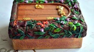 getlinkyoutube.com-ПОЛИМЕРНАЯ ГЛИНА Декор шкатулки полимерной глиной Polymer Clay Jewelry Box