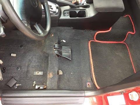 Как открутить (снять) передние сидения Mitsubishi.