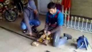 getlinkyoutube.com-1º Dia da construção do kart do henrique
