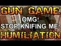 Black Ops &#8211; Knives Only Gun Game | Best Reactions