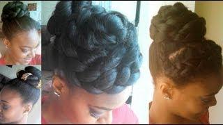 getlinkyoutube.com-High Bun Styles Using Yaki Hair