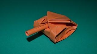 como hacer un tanque de papel