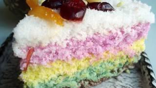 "getlinkyoutube.com-Rainbow rice cake (""mujigaeddeok"":무지개떡)"