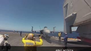 getlinkyoutube.com-POV Flight Deck Operations USS John C. Stennis
