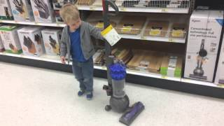 getlinkyoutube.com-Little Boy Loves Dyson Vacuums
