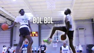 getlinkyoutube.com-Bol Bol Is a CHEAT CODE | Manute Bol's 7 Foot Son DESTROYS Top Rank Showcase With Ease