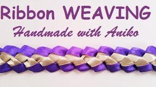 getlinkyoutube.com-DIY Ribbon weaving