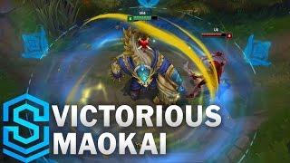 getlinkyoutube.com-Victorious Maokai Skin Spotlight - Pre-Release - League of Legends