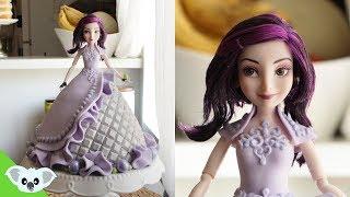 getlinkyoutube.com-Disneys Descendants: Mal Doll Cake | How To