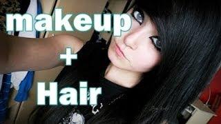 getlinkyoutube.com-EMO/SCENE makeup and hair tutorial 2013