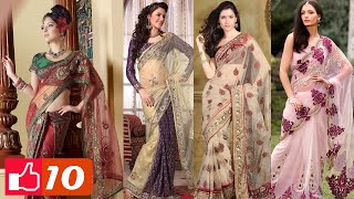 getlinkyoutube.com-Top 10 Latest Indian Sarees ► Styles and Designs
