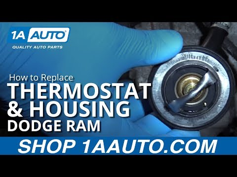 How to Replace Thermostat & Housing 03-10 Dodge Ram