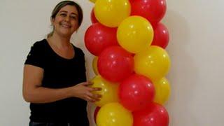 getlinkyoutube.com-(técnica) como fazer arco de balões espiral 2 cores (tradicional)